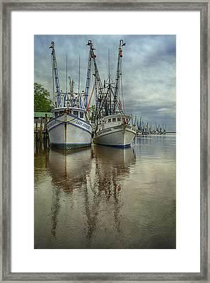 Docked Framed Print by Priscilla Burgers