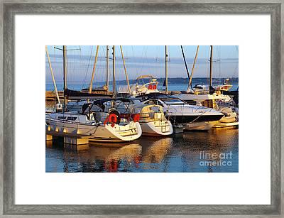 Docked Yachts Framed Print by Carlos Caetano