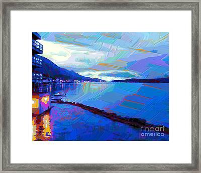 Dockside Evening Framed Print by Dorinda K Skains
