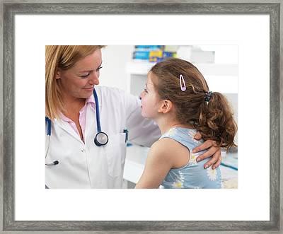 Doctor Caring For Patient Framed Print by Tek Image