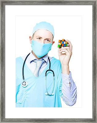 Doctor Problem Solving Medical Complications Framed Print