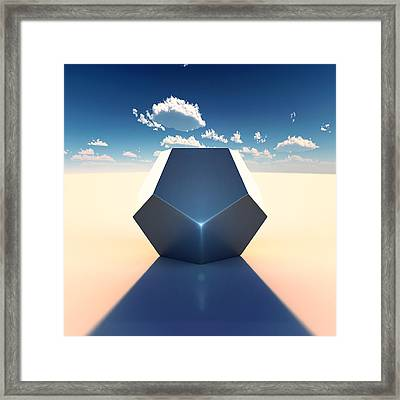 Dodecahedron Framed Print by Marc Orphanos