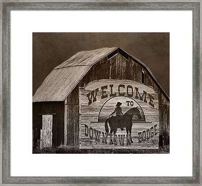 Dodge City Framed Print by Dan Sproul