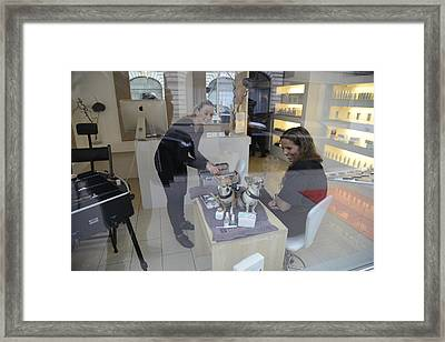 Framed Print featuring the photograph Dog And True Friendship 8 by Teo SITCHET-KANDA