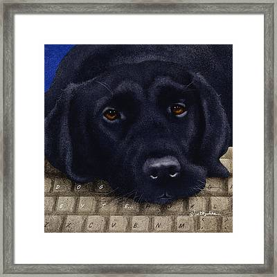 Dog Byte... Framed Print