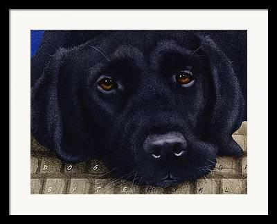 Labrador Framed Prints