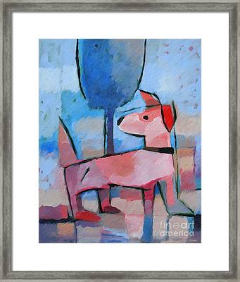 Doggy Framed Print by Lutz Baar