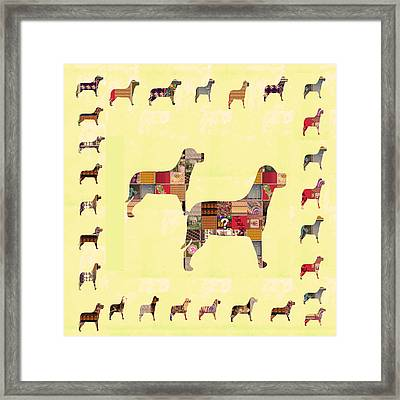 Dogs Masters Voice Proctector Guard Security Pets Animals Guide Signature Art  Navinjoshi Artist Cre Framed Print by Navin Joshi