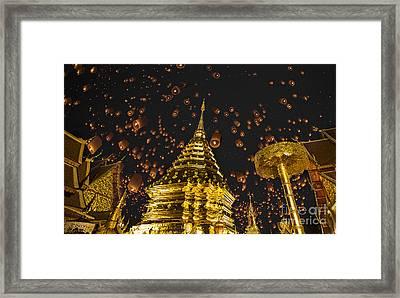Doi Suthep Framed Print by Anek Suwannaphoom