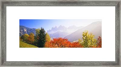 Dolomites Alps, Italy Framed Print