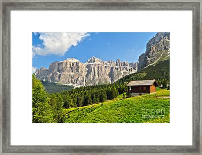 Dolomiti - High Fassa Valley Framed Print
