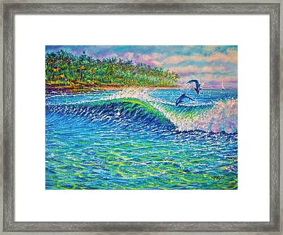 Dolphin Play Framed Print