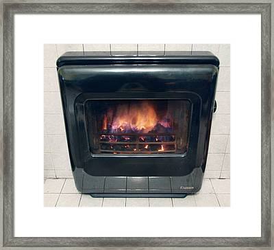 Domestic Solid Fuel Stove Framed Print by Public Health England