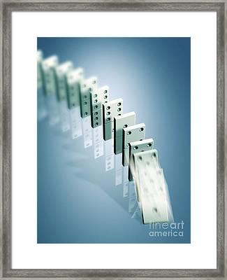 Domino Effect Framed Print by Pasieka
