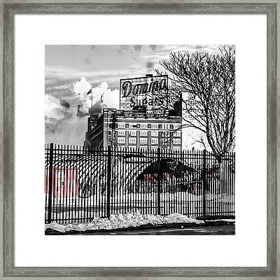 Framed Print featuring the photograph Domino Sugars by Toni Martsoukos