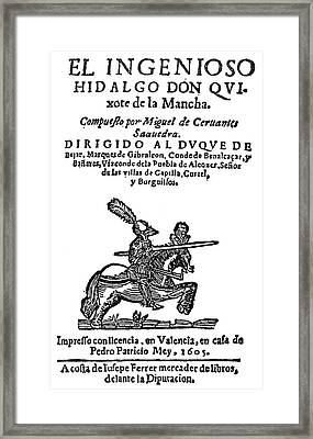 Don Quixote Title Page Framed Print