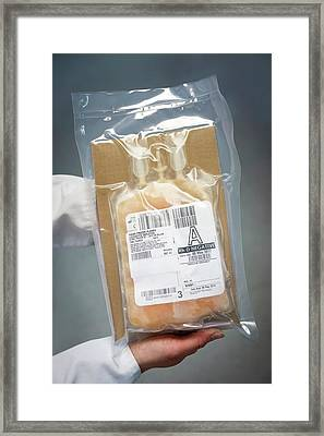 Donated Blood Plasma Framed Print by Aberration Films Ltd