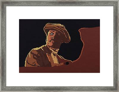 Framed Print featuring the painting Donny Hathaway by Rachel Natalie Rawlins