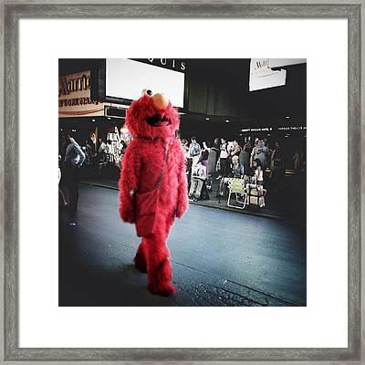 Don't Tickle Me Elmo Framed Print