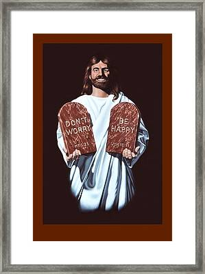Don't Worry Be Happy Framed Print by Michael Di Nunzio
