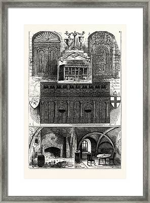 1. Door From The Middle Temple. 2. Wig-shop In The Middle Framed Print