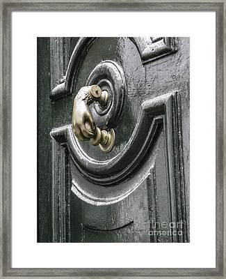 Framed Print featuring the photograph Door Knocker by Arlene Carmel