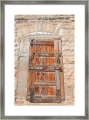 Framed Print featuring the photograph Door Series 1 by Minnie Lippiatt
