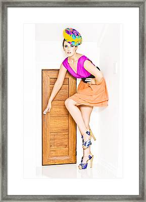 Door To Fashion Stardom Framed Print by Jorgo Photography - Wall Art Gallery