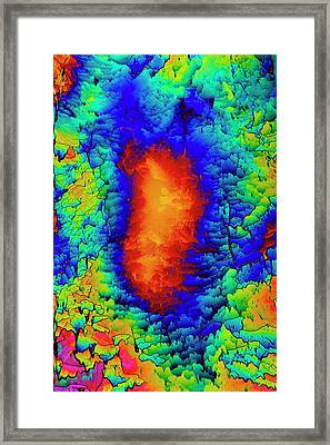 Dopamine Drug Crystals Framed Print