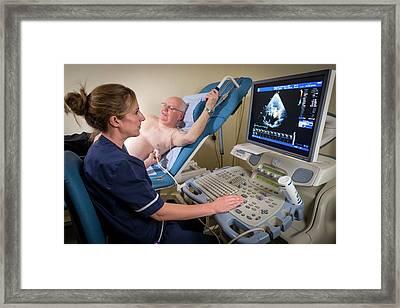 Doppler Echocardiography Test Framed Print