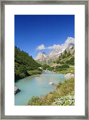 Dora Stream. Veny Valley Framed Print by Antonio Scarpi