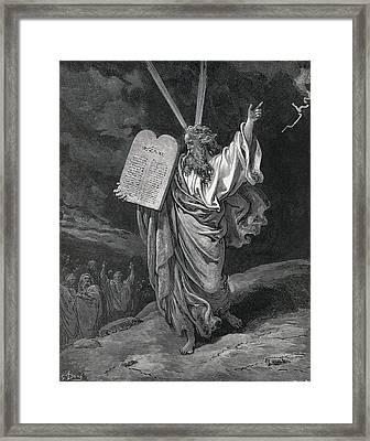 Dore, Paul Gustave 1832-1883. La Sainte Framed Print