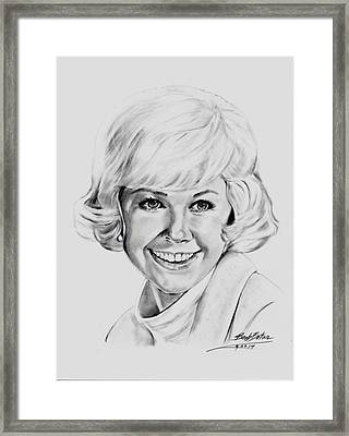 Doris Day Framed Print by Barb Baker