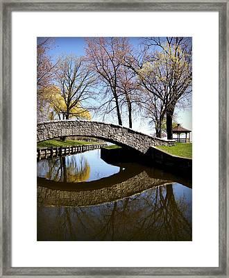Doty Park Neenah Wisconsin Framed Print by Carol Toepke
