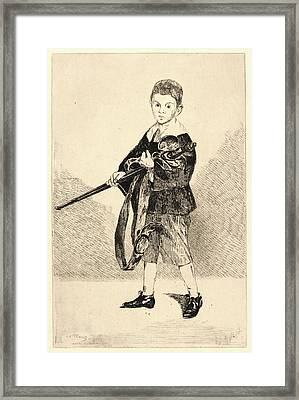 Édouard Manet French, 1832 - 1883. Child With A Sword Framed Print