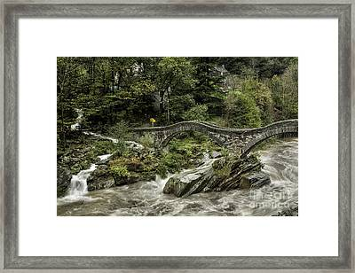Double Arch Stone Bridge Framed Print by Timothy Hacker