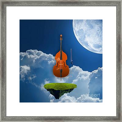 Double Bass Framed Print by Marvin Blaine