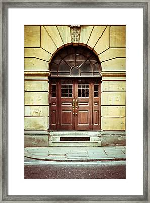 Double Door Framed Print