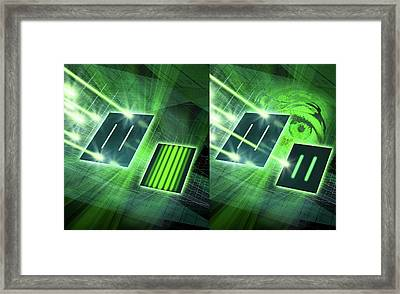 Double-slit Experiment Framed Print by Harald Ritsch