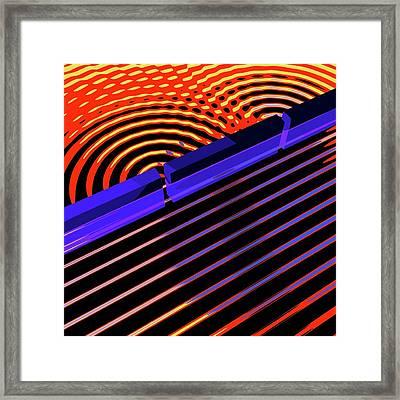 Double-slit Experiment Framed Print