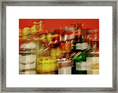 Double Vision And Alcohol Framed Print by Cordelia Molloy