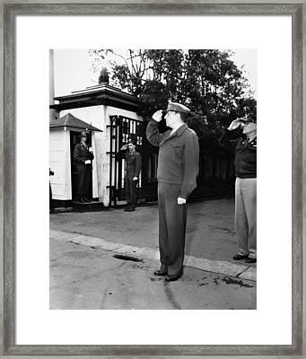 Douglas Macarthur Framed Print by Granger