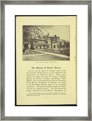 Down House From The South Framed Print by British Library