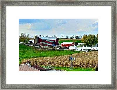 Down On The Farm Framed Print by Frozen in Time Fine Art Photography