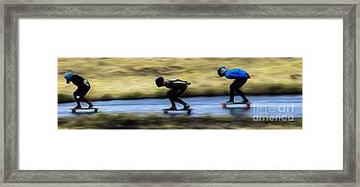 Downhill Runs  Framed Print by Carl Warren