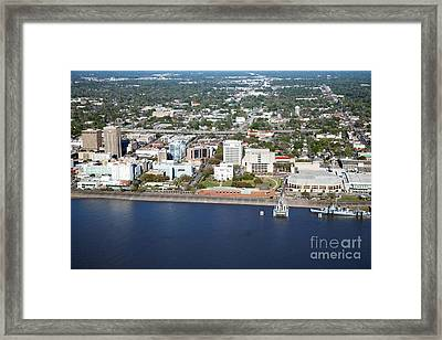 Downtown Baton Rouge Framed Print by Bill Cobb