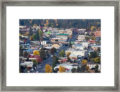 Downtown Bend Oregon From Pilot Butte Framed Print