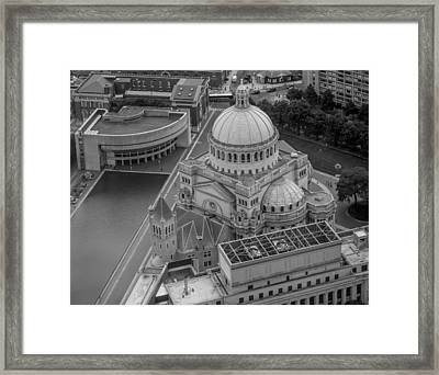 Downtown Boston Bw Framed Print