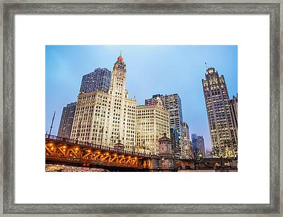 Downtown Chicago View Framed Print by Jess Kraft