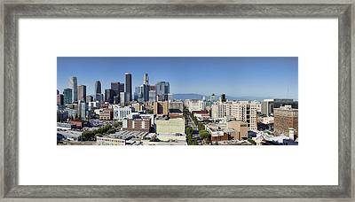 Downtown Los Angeles Framed Print by Kelley King